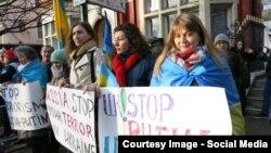 Демонстанти в Лондоні протестують проти російської агресії в Україні, 18 січня 2015 року
