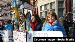 Протест против российской агрессии в Украине. Лондон. 18.01.2015