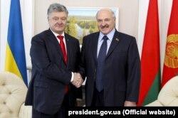 Петро Порошенко і Олександр Лукашенко. Гомель, 26 жовтня 2018 року