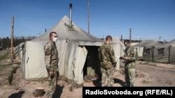 Бригада ЗСУ на ізоляції перед ротацією в зону бойових дій на Донбас. Квітень 2020 року