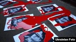 Акция протеста перед загородным домом министра внутренних дел Виталия Захарченко