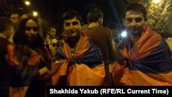 Участники протестной акции в Ереване