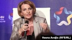 Теута Арифи, вицепремиерката за евроинтеграции.