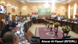 Iraq - Session of the Najaf Provincial Council to discuss security issues, Najaf, undated