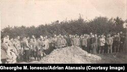 Înmormântarea locotenentului Cola Ioanichii, Krefeld, august 1917