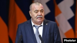 Armenia - Retired General Manvel Grigorian speaks at a congress of the Yerkrapah Union in Yerevan, 18 February 2017.