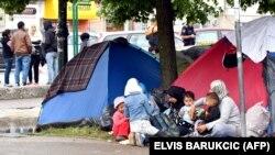 شماری از مهاجرین در سارایوو