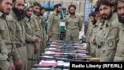 Members of a local police force in Sar-e Pol Province in northern Afghanistan (file photo)