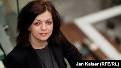 Czech Republic--Arbana Vidishiqi, Pristina bureau chief and head of Kosovo unit with RFE/RL's Balkan Service. Prague, April 17, 2015.