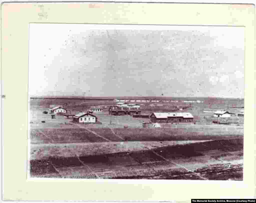 The Karaganda Corrective Labor Camp, known as Karlag, was among the largest of the Gulag camps. Seen in 1955, it was operated like a state farm and housed some 800,000 prisoners throughout its existence.