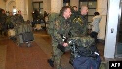 НАТОнун алкагында январь айынын соңунда Литвага келген немис күчтөрү.