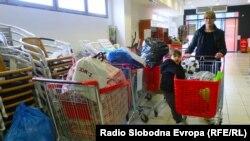 Prikupljanje pomoći u Livnu, foto: Željka Mihaljević