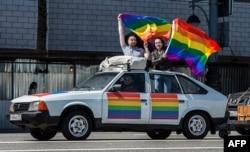 Акцыя ЛГБТ-актывістаў у Маскве