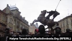 Акція протесту проти переслідування націоналістів, Львів, 14 січня 2010 року