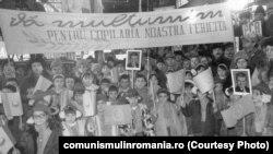 1985. Ceaușescu așteptat la Întreprinderea 23 August. Sursa: comunismulinromania.ro (MNIR)