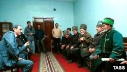 Нохчийчоь -- Дудаев ДжовхIар нохчийн къаношца къамел деш, 31ГIа1991