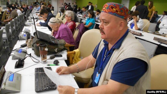 Crimean Tatar activist Nadir Bekirov claims his passport was forcibly taken from him by masked men while he was on his way to catch a flight to a UN conference. (file photo)