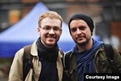 Вместе с политбеженцем Всеволодом Чернозубом на Гогольфесте в Киеве, фото Тамара Воробьёва