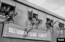Toshkentdagi ba'zi mozaik pannolar zilziladan ozor ko'rgan shaharga Ukraina vatandoshlaridan sovg'a edi