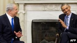 Премьер-министр Биньямин Нетаньяху и президент США Барак Обама во время встречи в Овальном кабинете Белого дома
