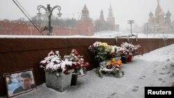 Место гибели Бориса Немцова.