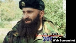 """Шамиль Басаев (скриншот из видео """"AP"""", где перечисляются важнейшие события, произошедшие 10 июля)"""