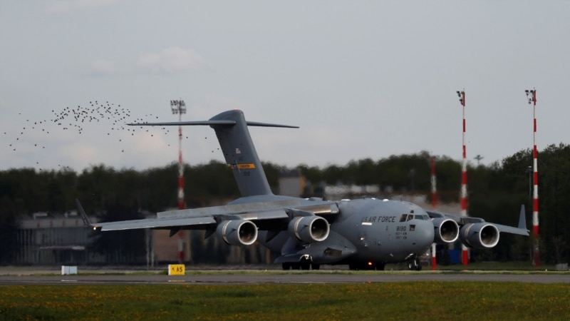 U.S. Says Military Plane With Ventilator Shipment Arrives In Moscow