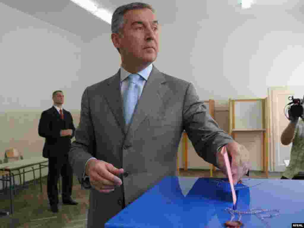 Premijer Milo Đukanović,23.05.2010. Foto: Savo Prelević