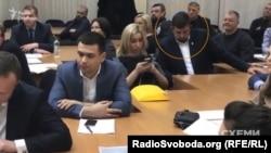 Олег Недава на засіданні, де розглядали апеляцію «Еконіки»