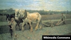 Джордж Клаўзэн, «Ворыва» (1889).