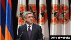 Armenia -- President Serzh Sarkisian speaks at 13th Congress of the ruling Republican Party, 10Mar2012.