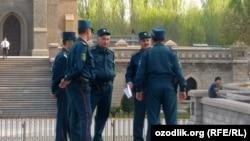 Сотрудники ташкентской милиции. Архивное фото.
