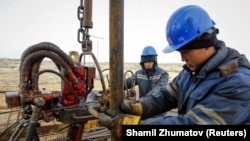 Kazakhstan is a major producer of oil and gas. (file photo)
