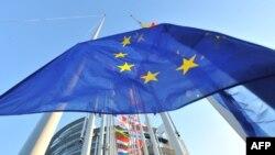 Zastava EU ispred Evropskog parlamenta