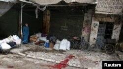 Krv na ulicama: Pobunjenički deo grada al-Zebdieh u Alepu, 5. decembar