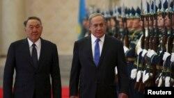 Қазақстан президенті Нұрсұлтан Назарбаев пен Израиль премьер-министрі Беньямин Нетаньяху. Астана, 14 желтоқсан 2016 жыл.