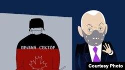 Rusiya-Kanada yarışına dair karikatura