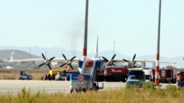 Turkey - A picture taken on 15Oct2012 shows the Armenian plane on its way to Syria's battered second city of Aleppo that was forced to land in Erzurum, eastern Turkey, 15Oct2012