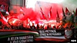 Сбор польских и венгерских националистов. Ноябрь 2015 года. Иллюстративное фото.
