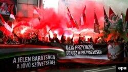 Сбор польских и венгерских националистов (ноябрь 2015 года).
