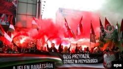 Militanți naționaliști polonezi și unguri