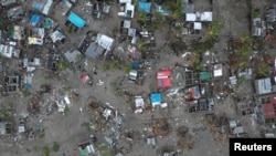A general view shows destruction after Cyclone Idai in Beira, Mozambique, March 16-17, 2019