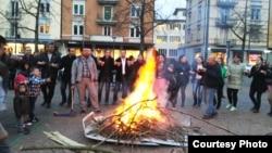شعلة نوروز في مدينة زيوريخ السويسرية