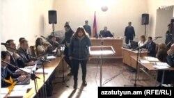 Լուսինե Ավետիսյանը դատարանի դահլիճում, 29-ը հունվարի, 2016թ.
