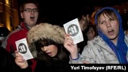 """Акция """"Стратегии-31"""" в Москве на Триумфальной площади 31 октября 2011"""