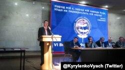 На шостому Всесвітньому форумі українців виступає віце-прем'єр-міністр України В'ячеслав Кириленко, Київ, 20 серпня 2016 року