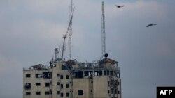 ایستگاههای رادیو و تلویزیون الاقصی در غزه، هدف موشکهای اسرائیلی قرار گرفت