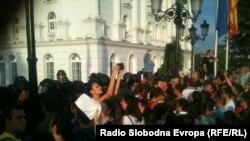 Macedonia-Protest for Martin Neshkovski