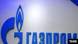 Russia -- The Gazprom logo, 27Jun2007