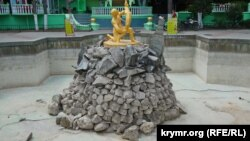 Алушта, фонтан без воды